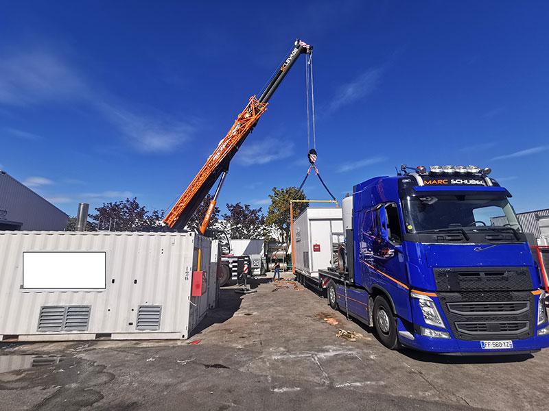 Transport chambre froide par camion PLATEAU Paris 91 IDF
